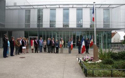Le 14 juillet 2019, cérémonie sur la place du 19-Mars-1962 à Fosses