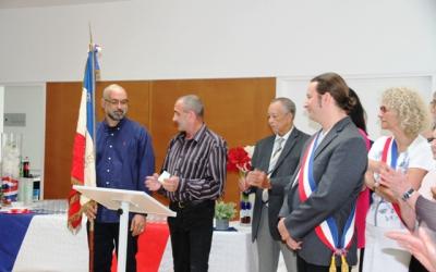 Félicitation aux porte-drapeau, le 14 juillet 2019 à Fosses