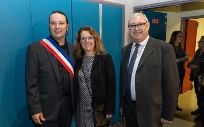 Le maire de Fosses accueille Jean-Marie Fossier, maire de Louvres.