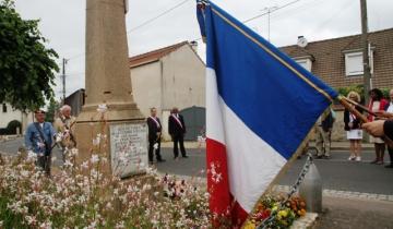 Fosses : hommage au monument aux Morts au village